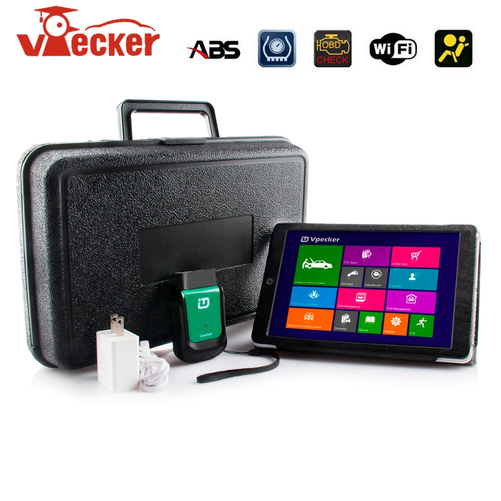 Vpecker Easydiag V10.6 Automotive OBD2Vpecker Wifi Adapter Full Systems Auto Diagnostic Scanner Better than LAUNCH X431 Scanner free shipping launch m diag lite for android ios with built in bluetooth obdii mdiag m diag lite better than x431 idiag easydiag