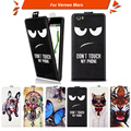 High quality fashion cartoon pattern flip up and down leather case for Vernee Mars,Free gift