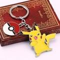 Pikachu Pokemon Ir Llavero Amarillo de Poke Bola Llaveros Chaveiro Regalo Holder Cadena Dominante Del Coche Accesorios HC11834