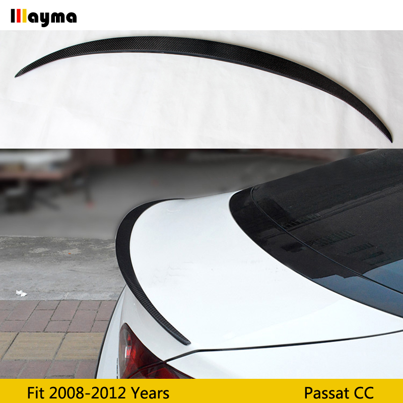 R line Style Carbon Fiber rear trunk spoiler For Volkswagen Passat CC 2008 2012 year CC CF sport rear wing spoiler-in Spoilers & Wings from Automobiles & Motorcycles    1