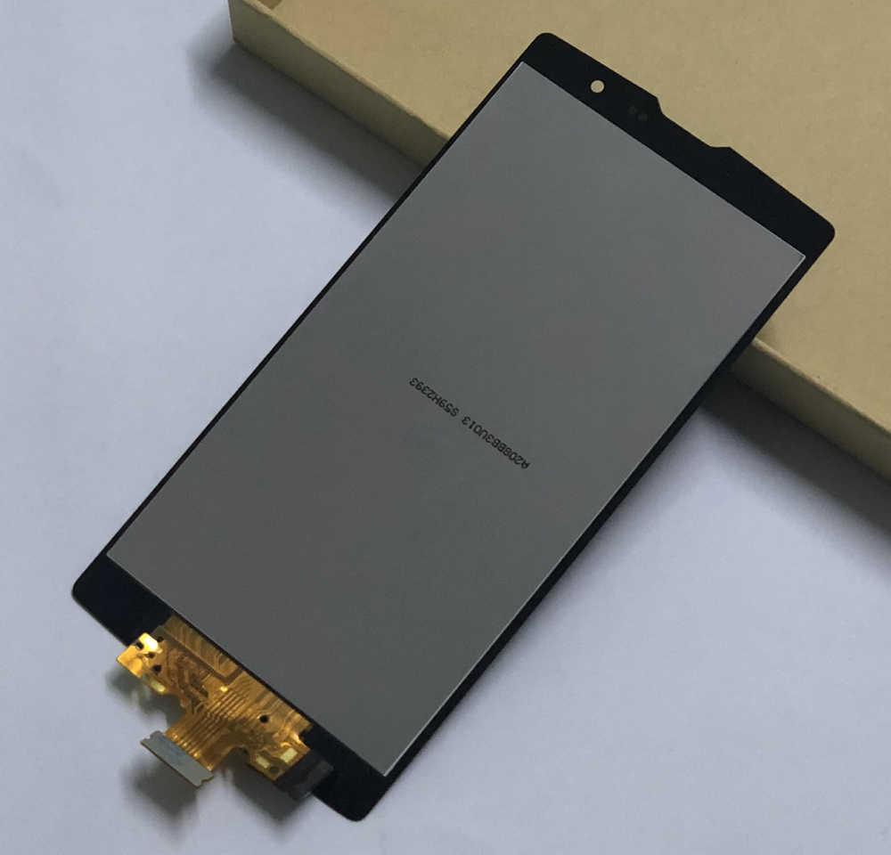 ل LG G4c H525N H525 H522Y H520Y H500 H502 محول الأرقام بشاشة تعمل بلمس الاستشعار الزجاج + شاشة الكريستال السائل لوحة مراقبة الجمعية مع الإطار