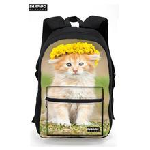 Для Девочек-Подростков Кошка с принтом милые школьные рюкзаки элегантный дизайн 3D животных Женщины ноутбук сумка рюкзак дорожная рюкзак Mochilas
