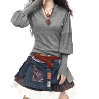Women S Long Lantern Sleeve Cashmere Sweaters And Pullovers Female Artkas Clothing Autumn And Winter Warm