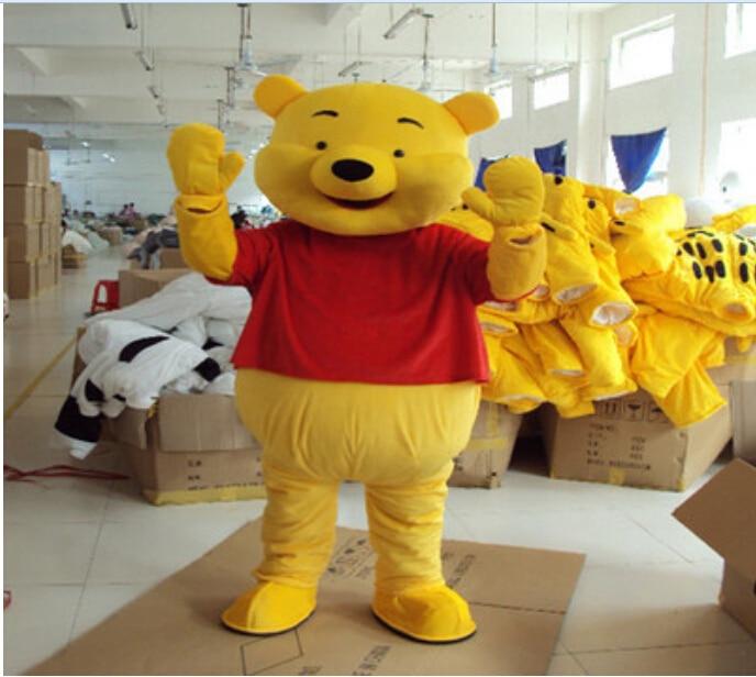 Winnie The Pooh maskottchen cosplay kostüm Adult