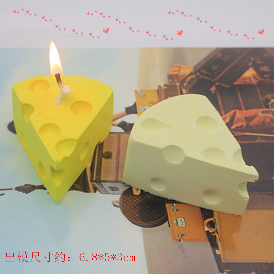 3D cheese candle mold DIY aromatherapy stone soap aromatic gypsum ornaments silicone molds