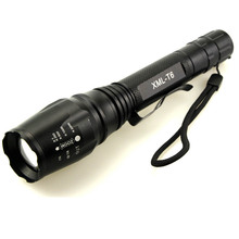 battery flashlight rechargeable Zoomable