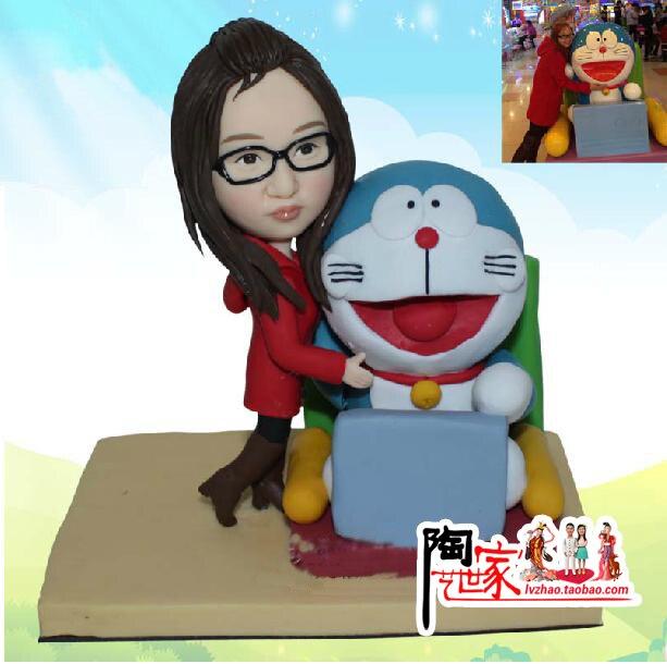 Cel mai bun cadou Tort pentru ziua de nastere face figurina din poze - Produse pentru sărbători și petreceri