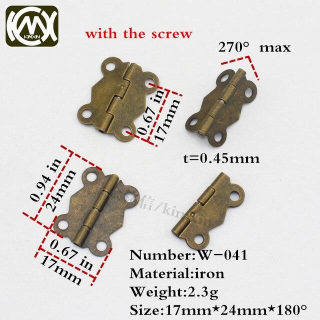 17*24mm 100 stück bronze 4 loch küchenschrank scharnier möbel ...