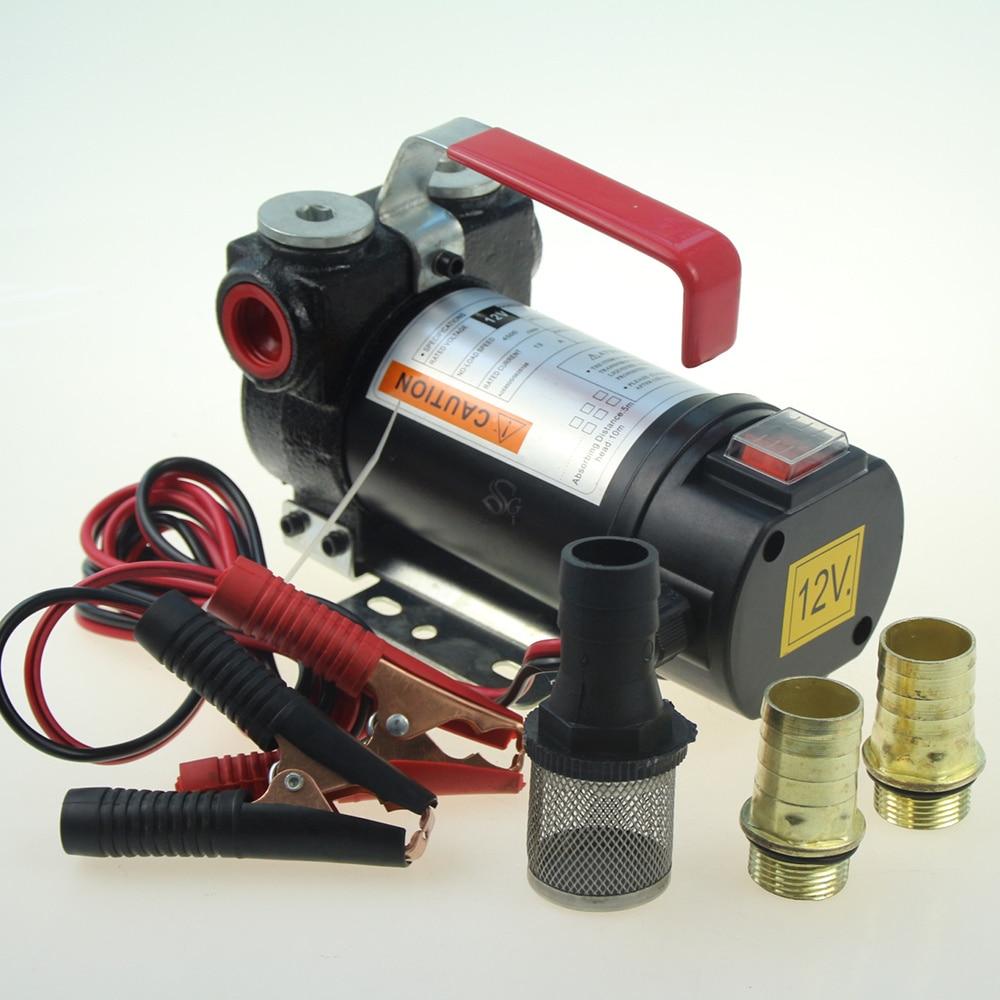 Newest 12V Portable Fuel For Diesel Pump Oil Transfer Pump Self Priming Set 45L/Min 200W Best Price