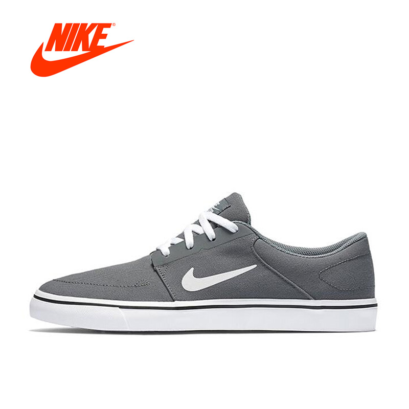 Intersport Original New Arrival Authentic Nike SB PORTMORE CNVS Hard-Wearing Men's Skateboarding Shoes Sports Sneakers original new arrival authentic nike juvenate woven prm women s light skateboarding shoes