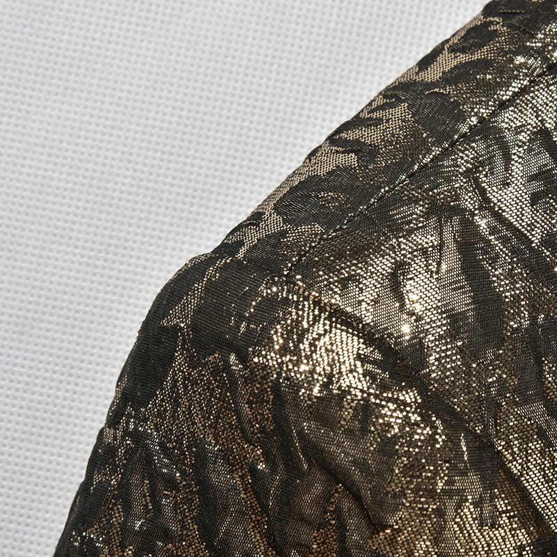 Мужские свадебные костюмы 2018 роскошный бренд черный Шаль Воротник Золотой смокинг куртка дизайнерские костюмы для выпускного вечера последние конструкции пальто брюки 86680
