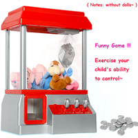 Kids Claw Machine Music Candy Grabber Coin Operated Game Doll Mini Arcade Machine Without Toys Gift For Children