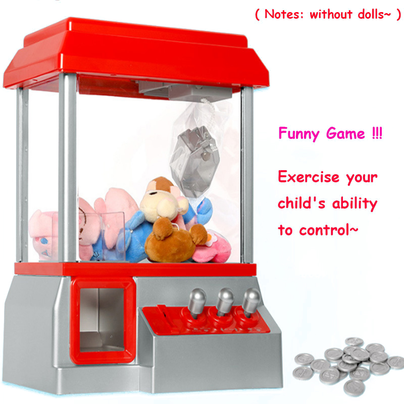 Kids Claw Machine Music Coin Operated Gabinete Gamer Game Mini Arcade Machine Vending Candy Grabber Without Toys Children Gifts(China)