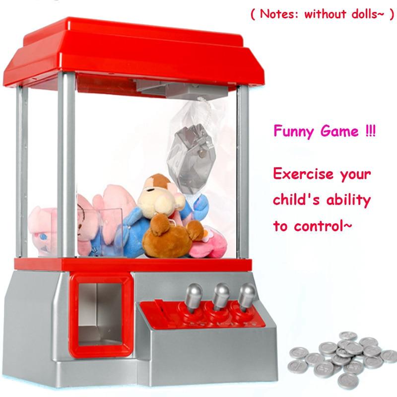 Crianças garra máquina de música moeda operado gabinete gamer jogo mini máquina arcade venda automática grabber doces sem brinquedos presentes das crianças