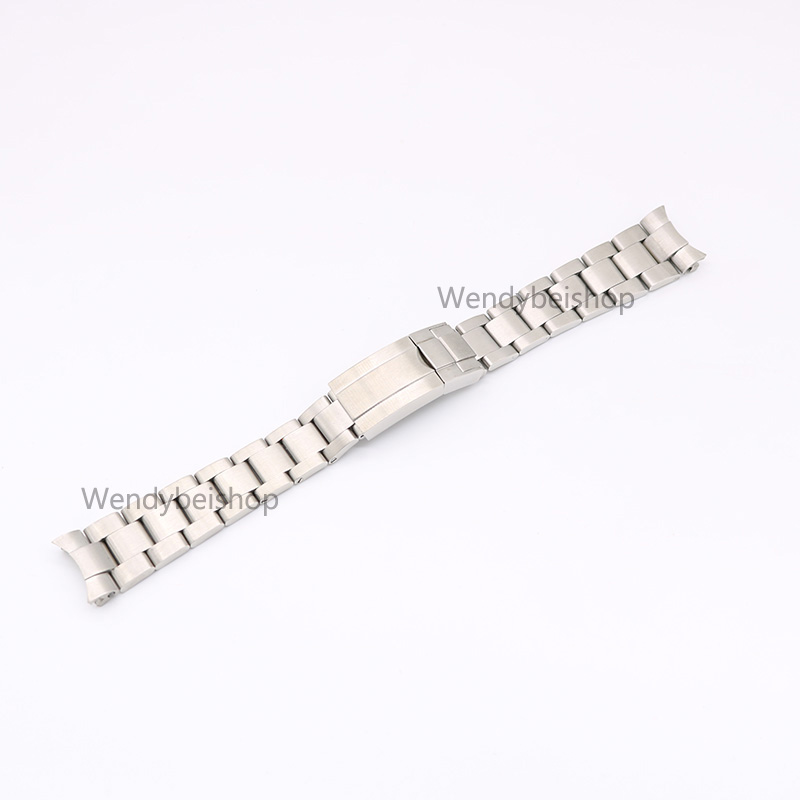 CARLYWET 20mm 316L Stainless Steel Two Tone Gold Silver Solid Curved End Link Deployment Clasp Wrist Watch Band Strap Bracelet
