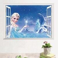10pcs/Pack 3D Elsa Anna Wall Sticker Decal Decor Boy Girl Kid Art removeable DIY Gift Free Shipping