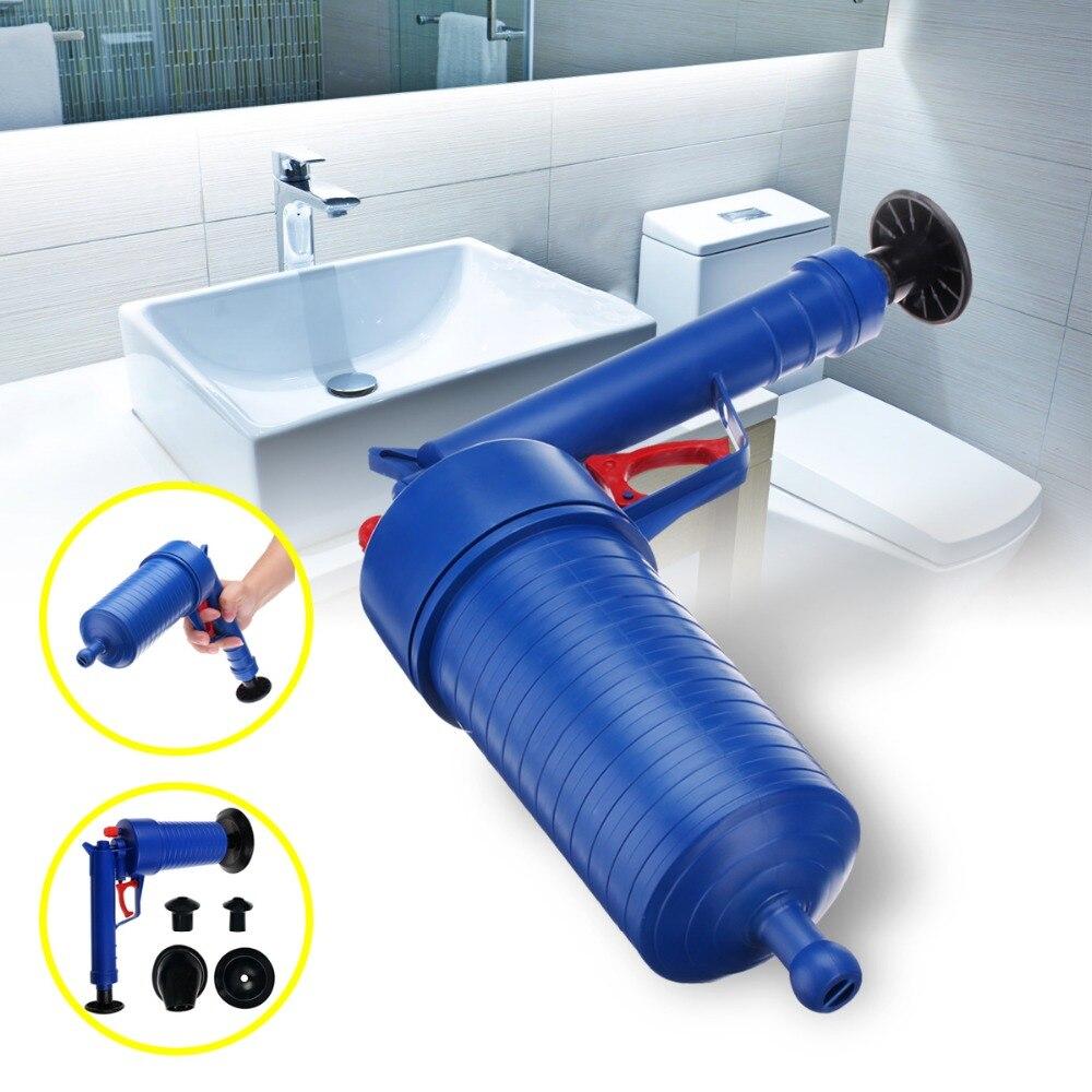 Haute Pression Air Drain De Puissance Salle De Bains Tuyau Sabots Cleaner Drague Toilettes des Tuyaux Bouchés Évier le Piston Pompe À Eau Cleaner Outil