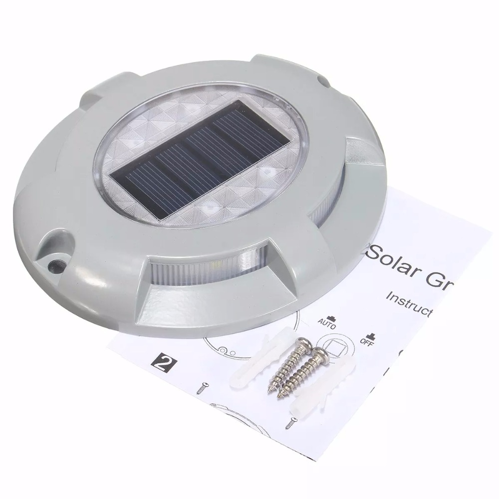Solar Road Stud Lighting Aluminum 4LED Outdoor Road Security Lights Lamp Outdoor Driveway Pathway Yard Garden Step Lamp in Solar Lamps from Lights Lighting
