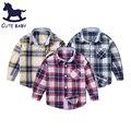 Мальчик рубашка модный бренд ребенок однобортный детская одежда популярные одежда С Длинными рукавами рубашки для ребенка мальчик 2-12Y