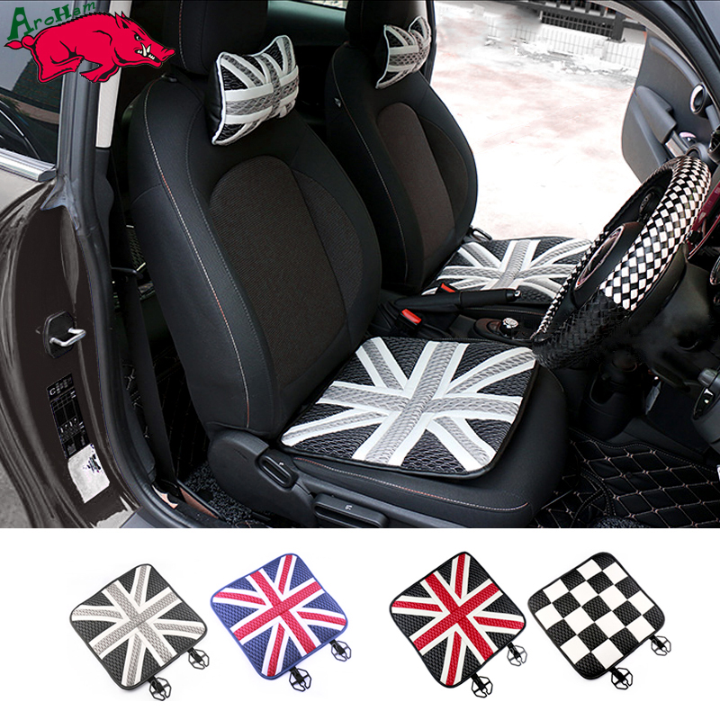 2pcs Ice Silk Car Seat Cushions Mat Pad Covers for Mini Cooper Countryman JCW One+ S Paceman R60 R61 R55 R56 F55 F56 Car Styling цены