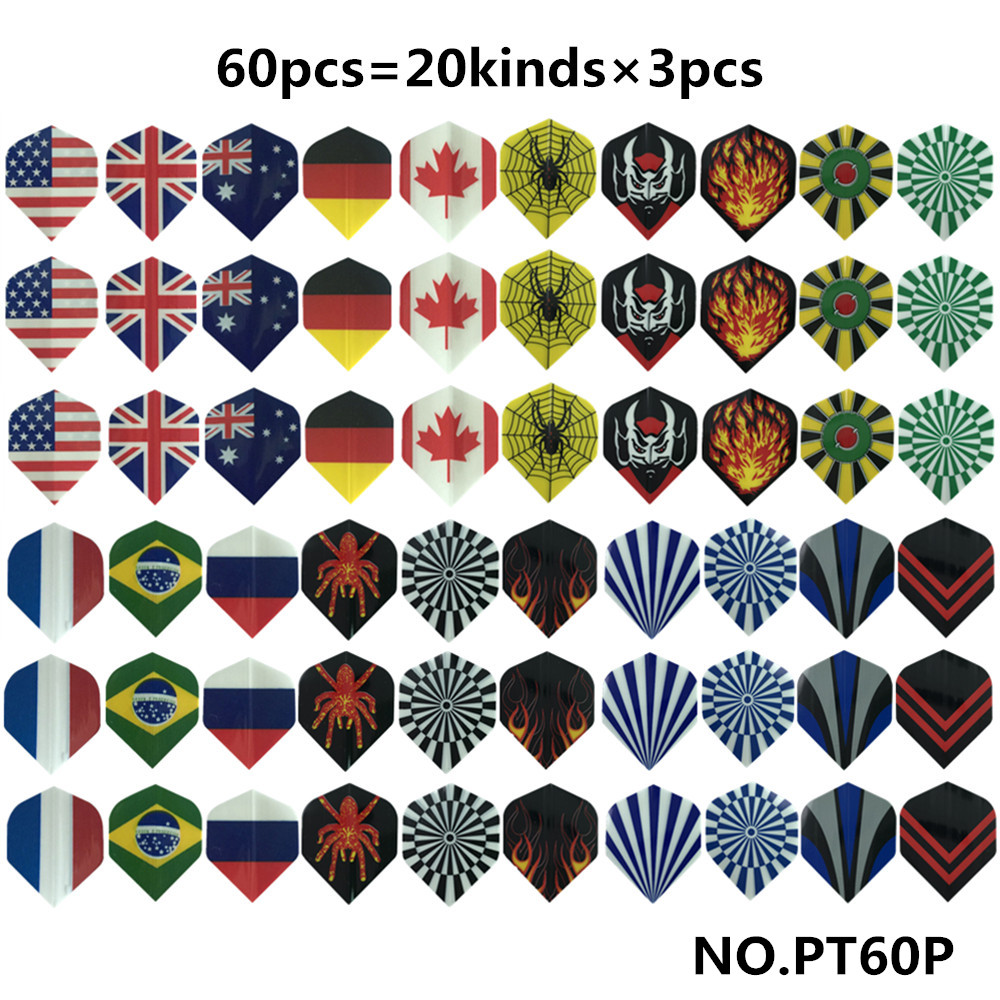 Cavalier 30/48/60 PCS Mixed Style Professional Dart Flights Set Darts Tail Darts Accessory Outdoor Indoor