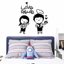 Delicate Couple Love Wall Art Decal Wall Stickers Material For Living Room Kids Room Decal Mural Bedroom adesivi murali couple bird wall decal