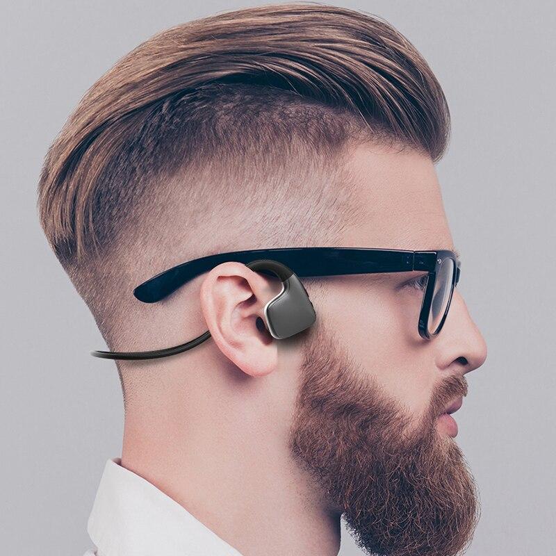 Image 2 - Original headphones Bluetooth 5.0 Bone Conduction Headsets Wireless Sports earphones Handsfree Headsets Support Drop ShippingBluetooth Earphones & Headphones   -