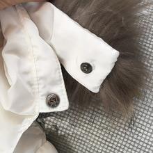 Mioigee Kids Winter Jackets For Girls 2017 New Kids Duck Down Jackets Children Fur Hooded Jackets Girl Snowsuit Kids Outerwear