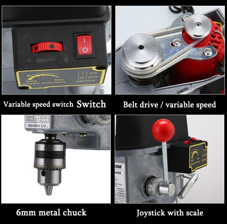 Купить с кэшбэком 340W Electric Bench Drill with 0.6mm-6.5mm Multi-function Micro Drilling Machine 220V Household Drilling Machine GB-5158B