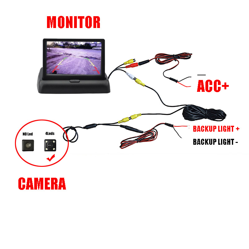 Thehotcakes 4 3inch Monitor Camera Rear View Reversing Parking DIY DVD Camera Kit For Alfa Romeo