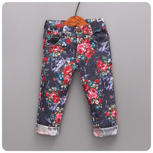 Trousers 16 New Product Korean Children's Garment Pants In National Customs Printing Baby Self-cultivation Pants Long Pants