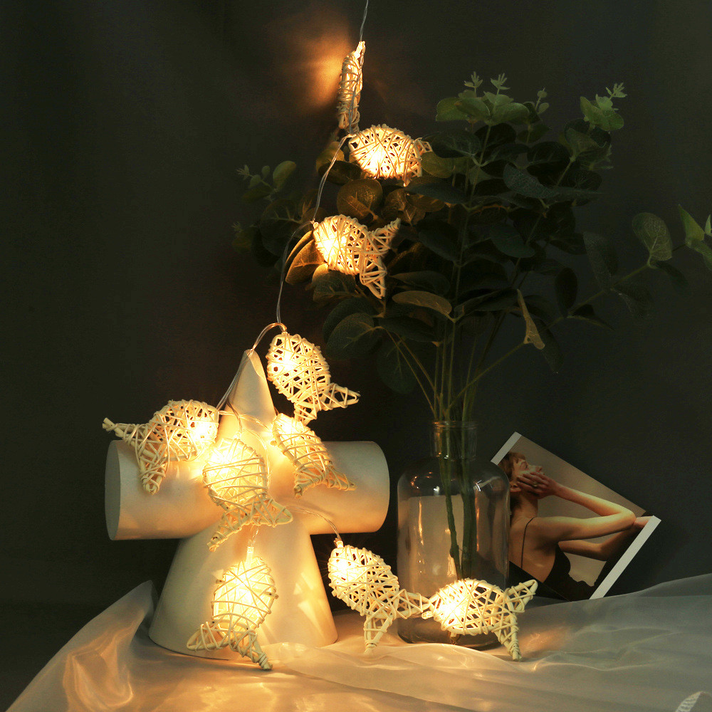 DC4 5V Rattan Fish led string light Creative fairy Christmas decoration Battery powered lighting for Holiday Bedroom Restaurant in LED String from Lights Lighting