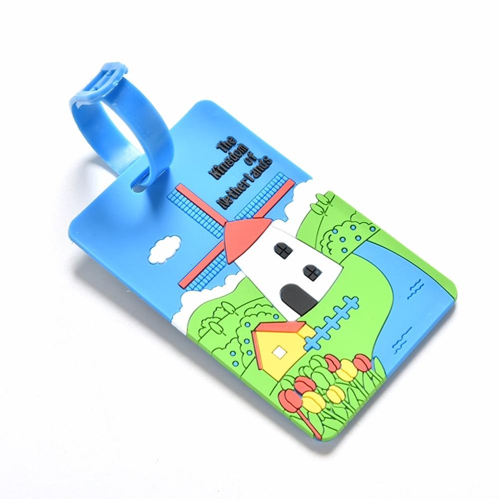 1 StÜck Candy Farbe Gepäck Tag Label Name Id Adresse Erkennungsmarken Kofferanhänger Koffer Gepäck Zubehör