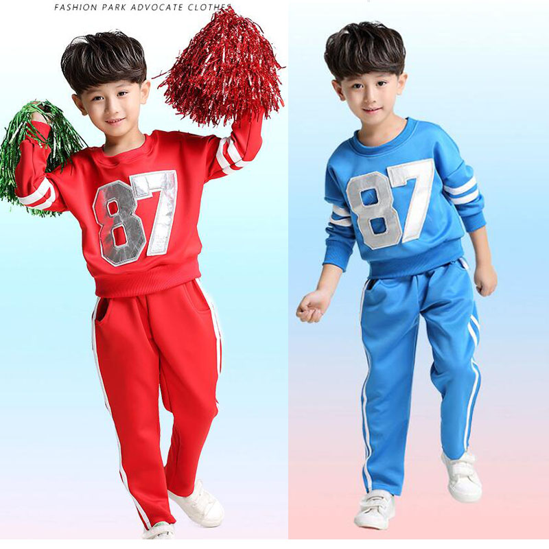 Plus Size Adults KIds Primary School Uniform Teen Students Chorus Costumes  Children Cheerleading Students Aerobics Clothing -in School Uniforms from  Novelty ... dac08f57d44f