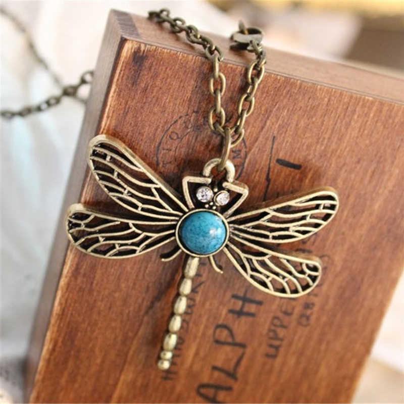 2016 nouveau Vintage bijoux rétro creux libellule coréen Long paragraphe pull animaux chaîne pendentif collier pour les femmes x5