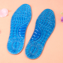 1 Pair Unisex Silicon Gel Insoles Cushion Running Sport Insoles Shock Absorption Pads Foot