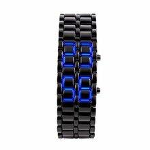 Мужские часы из нержавеющей стали с железным Самураем, светодиодный цифровой браслет возлюбленной женщины, наручные часы gai