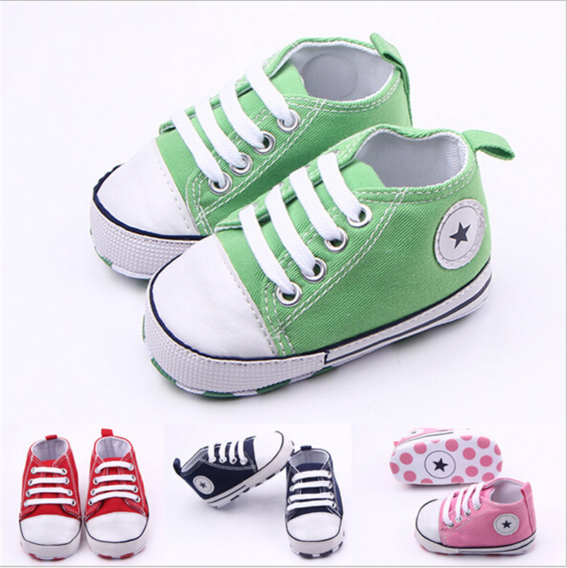 New Baby Canvas Shoes Infants Boys Girls Sports Shoes Soft Bottom Toddlers Casual Shoes