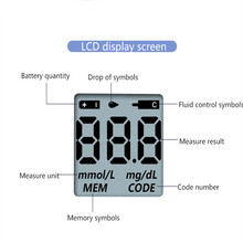 Blood Glucose Meter With 50pcs Strips And 50pcs Lancets Needles For Sugar Detection