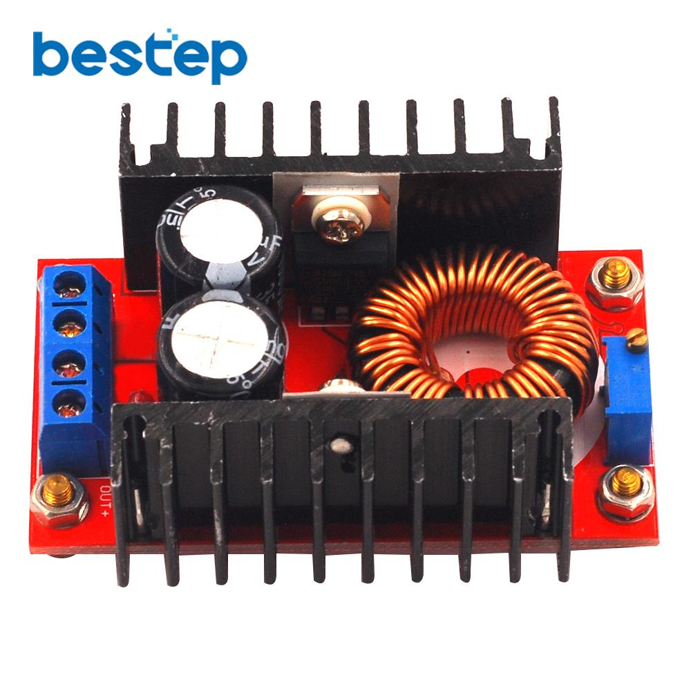 <font><b>150W</b></font> Boost Converter <font><b>DC</b></font> to <font><b>DC</b></font> 10-32V to 12-35V <font><b>Step</b></font> <font><b>Up</b></font> Voltage Charger Module High efficiency and high quality image