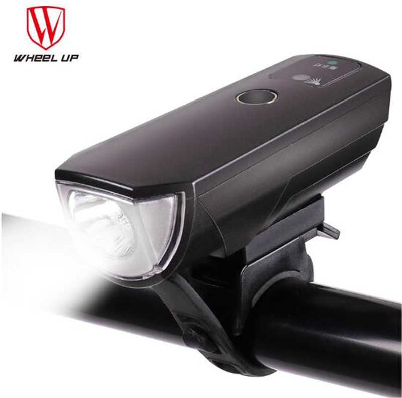WHEEL UP 2017 New Arrival Bike Torch MTB Road Bicycle Lamp Usb Chargeable Led Front Light Tail Light Set Taillight Rear Light in Bicycle Light from Sports Entertainment