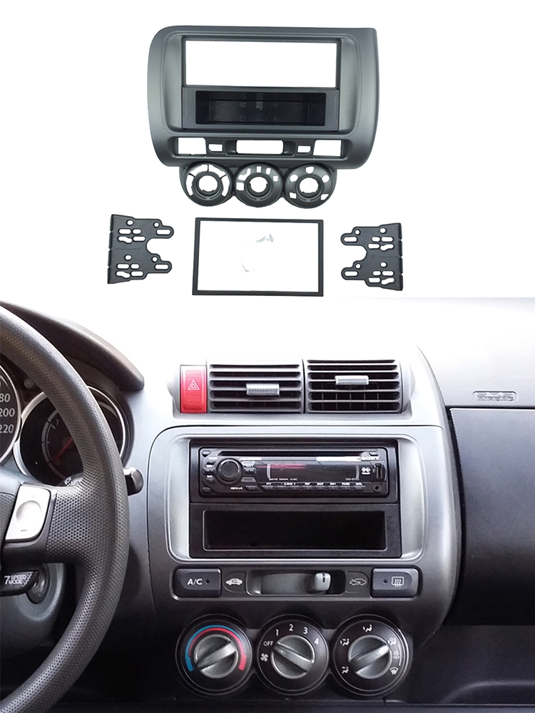 FP-15-03 S Honda Civic 2001-2006 RHD Silver Fascia Facia Adaptor Panel Surround