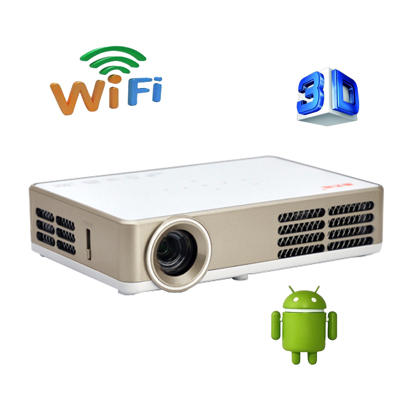 Smart bluetooth android 4 4 wifi hdmi usb tf blue ray 4k3d for Bluetooth projector for iphone