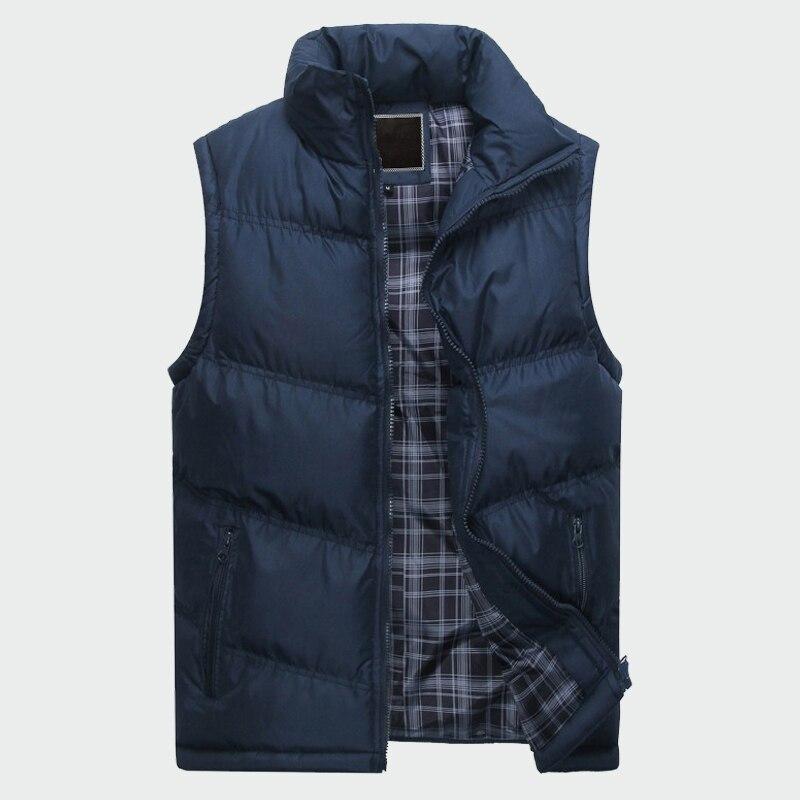 Men's Sleeveless Jacket New Fashion Thicken Cotton Vest Autumn Warm Vest Winter Male Waistcoats Men Casual Windbreakers ML085