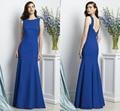 Moda modest custom made azul royal vintage vestidos maid of honor da dama de honra vestidos para casamentos vestido de festa parágrafos dbd12