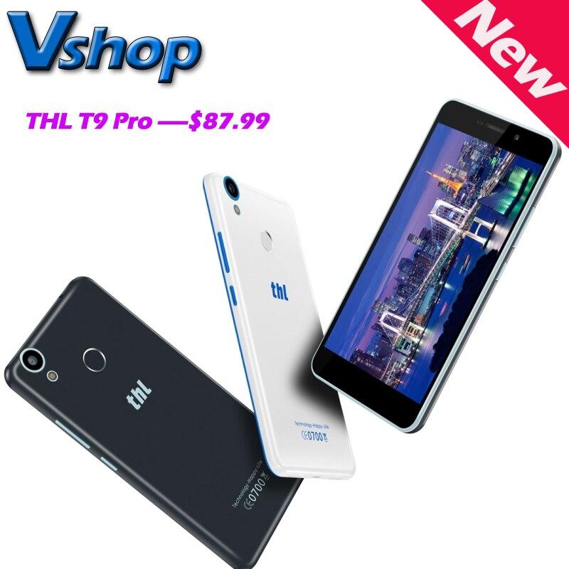 Цена за Оригинал THL T9 Pro 4 Г ПУСТЬ Android 6.0 MTK6737 Quad Core 1.3 ГГц RAM 2 ГБ ROM 16 ГБ 720 P 5.5 дюймов Смартфон A GPS Отпечатков Пальцев