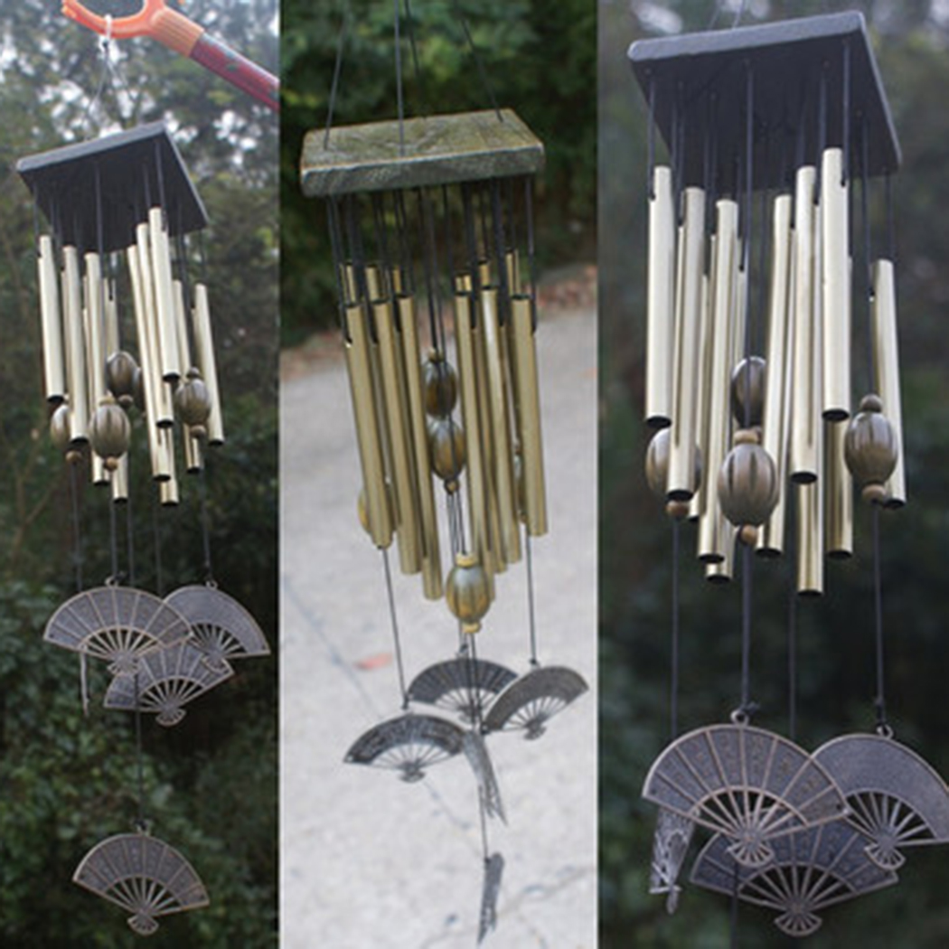 Outdoor Living Wind Chimes Yard Antique Garden Tubes Bells Copper Home Windchime Chapel Bells Wall Hanging Home Decor ...