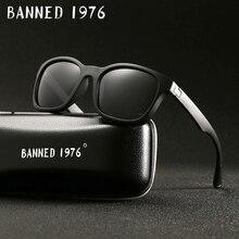 c522241088 BANNED 1976 Fashion Men Polarized Sunglasses women Driving Mirrors Points matte  Black Frame Eyewear Male Sun Glasses UV400