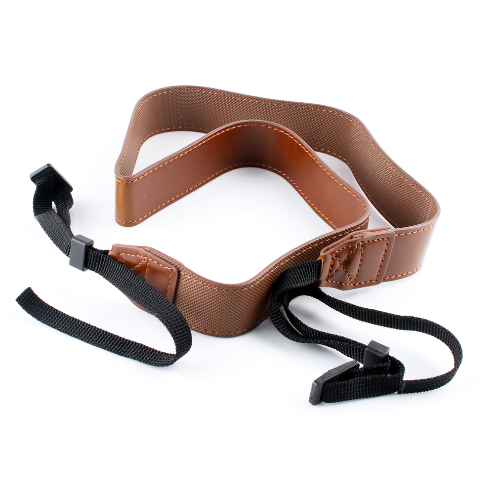 New PU Leather Neck Shoulder Sling Belt Camera Strap for Nikon Sony Canon Pentax Panasonic Photography Spare Parts