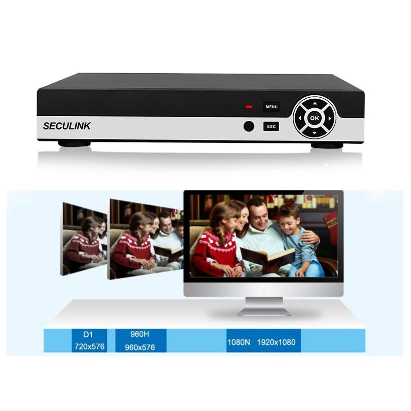 Seculink 4CH 8CH 16CH 1080N 5-in-1 AHD DVR CCTV Surveillance Video Recorder HDMI H.265 Compression P2P Danale CloudSeculink 4CH 8CH 16CH 1080N 5-in-1 AHD DVR CCTV Surveillance Video Recorder HDMI H.265 Compression P2P Danale Cloud